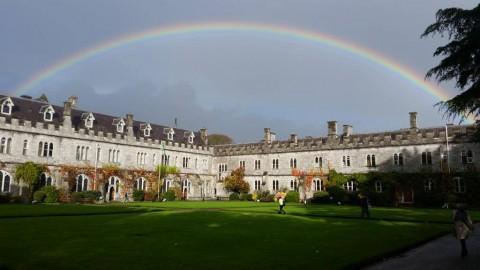 Cork - UCC with rainbow